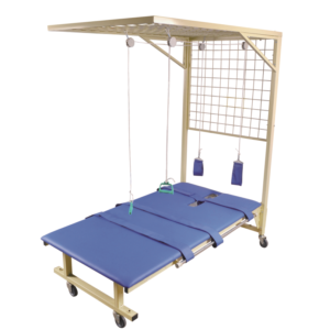 Rehabilitation traction net with bed