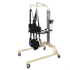 Medical electric gait training rehabilitation frame