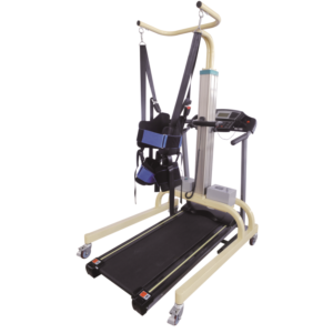 Medical rehabilitation equipment gait training frame with treadmill