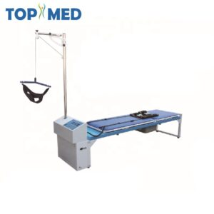 Hospital physical therapy traction table lumbar decompression bed