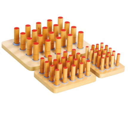 Occupational-therapy-equipment-peg-board Medical finger physiotherapy insert exercise board
