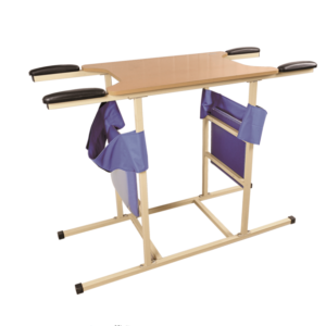 Medical two-person standing training frame rehabilitation product