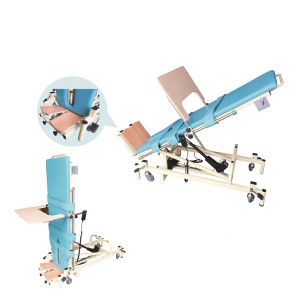 Medical electric vertical rehabilitation bed